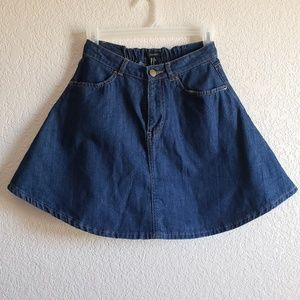 Forever21 sailor denim skirt